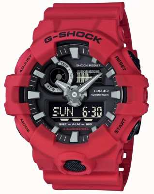 Casio Chronographe d'alarme rouge pour hommes g-shock GA-700-4AER