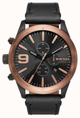 Diesel Gents râpe chrono rose or / noir montre DZ4445