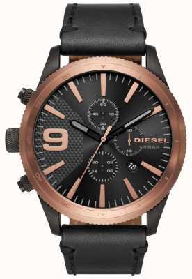 Diesel Gents râpe chrono rose or / noir montre DZ4445