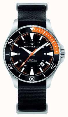 Hamilton Hommes kaki marine scuba automatique noir H82305931