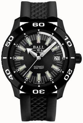 Ball Watch Company Fireman necc pvd case sangle en caoutchouc noir DM3090A-P4J-BK