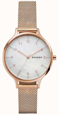 Skagen Womans anita bracelet en maille en or rose en acier inoxydable SKW2633