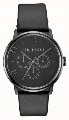 Ted Baker Montre chronographe en cuir noir mens james TE10030763