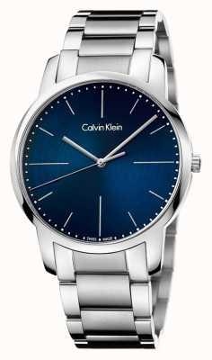 Calvin Klein Compteur bleu pour hommes en acier inoxydable K2G2G1ZN