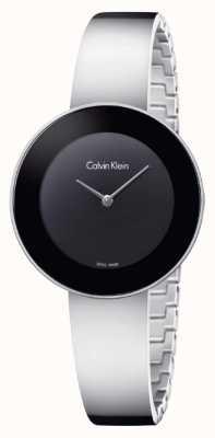 Calvin Klein Chaîne en acier inoxydable chic noir K7N23C41