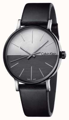 Calvin Klein Les hommes augmentent le cuir noir en deux tons K7Y21CCX