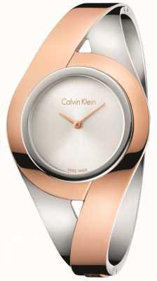 Calvin Klein Bracelet en acier inoxydable à deux tons féminin K8E2M1Z6