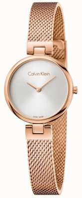 Calvin Klein Bracelet en maille en or rose rose authentique K8G23626