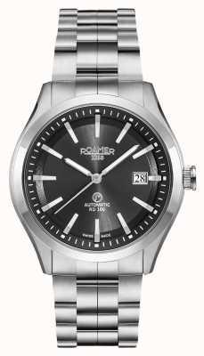Roamer Automatique rd100 | bracelet en acier inoxydable | cadran noir 951660 41 55 90