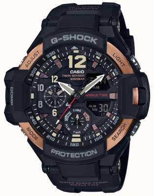 Casio Mens g-shock aviator gravity master watch GA-1100RG-1AER