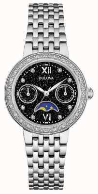 Bulova Bracelet en acier inoxydable en forme de lune en diamant Womans 96W210