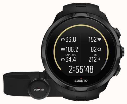 Suunto Spartan sport poignet hr tout noir avec ceinture SS023364000