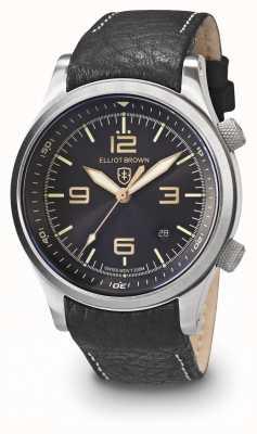 Elliot Brown Hommes canford noir et acier inoxydable 202-021-L17