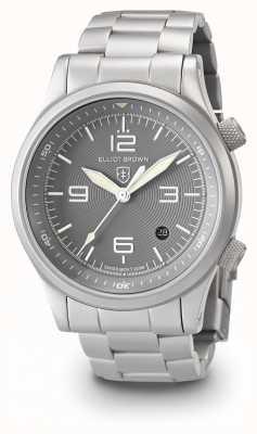 Elliot Brown Bracelet canford en argent et gris en acier inoxydable 202-018-B06