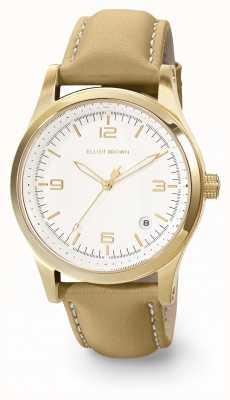 Elliot Brown Bracelet en cuir huilé blanc et caramel Womans 405-007-L59