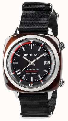 Briston Clubmaster Diver unisexe écaille de tortue acétate auto noir 17642.SA.TD.1.NB