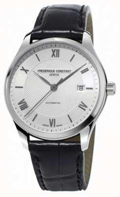 Frederique Constant Hommes classiques index automatique bracelet en cuir noir FC-303MS5B6