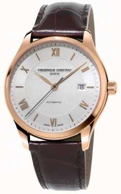 Frederique Constant Hommes classiques index automatique bracelet en cuir marron FC-303MV5B4