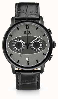 REC Mark 1 m3 chronographe bracelet en cuir noir M3