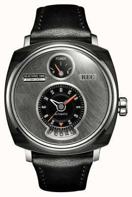 REC P51-01 mustang bracelet en cuir noir automatique