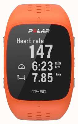 Polar Montre de sport en caoutchouc orange M430 90064410