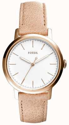 Fossil Bracelet en cuir beige noir Womans ES4185