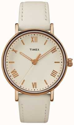 Timex Womans southview 37mm crème en mousse rose gold tone case TW2R28300