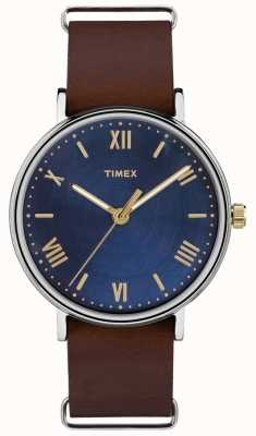 Timex Bracelet brun pour homme, côté sud 41mm TW2R28700