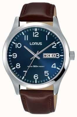 Lorus Robe courte pour hommes en cuir marron classique RXN49DX9