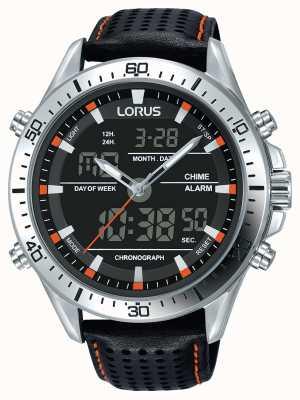 Lorus Mens sport analogique / chronographe numérique noir RW637AX9