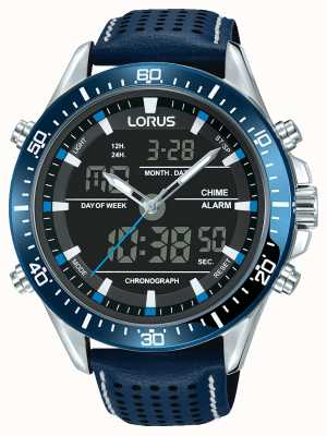 Lorus Hommes sport analogique / chronographe numérique bleu RW643AX9