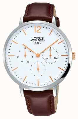 Lorus Bracelet en cuir brun décoratif élégant pour femme RP691CX9