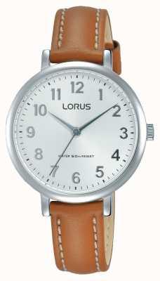 Lorus Bracelet en cuir marron blanc marron blanc Womans RG237MX7
