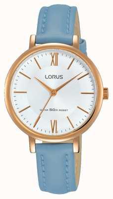 Lorus Bracelet en cuir bleu doux Womans RG264LX5