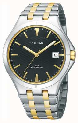 Pulsar Bracelet bicolore en métal noir à deux branches PXH909X1