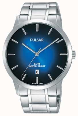 Pulsar Bracelet en argent argenté en argent avec cordon de gradation bleu PS9527X1