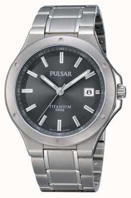 Pulsar Bracelet titane homme cadran gris PS9125X1