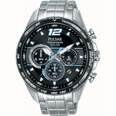 Pulsar Montre-bracelet pour chronographe à accélérateur solaire pour homme PZ5031X1