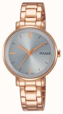 Pulsar Womans rose or bracelet en acier inoxydable cadran gris PH8362X1