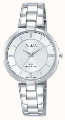 Pulsar Bracelet en acier inoxydable en argent sterling en argent PH8311X1