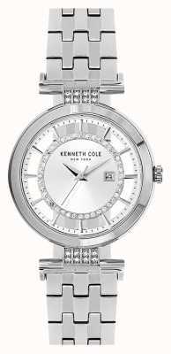 Kenneth Cole Bracelet en acier inoxydable en argent sterling transparent KC15005003