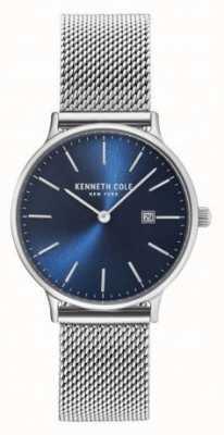 Kenneth Cole Bracelet en maille en acier inoxydable bleu cadran bleu KC15057005