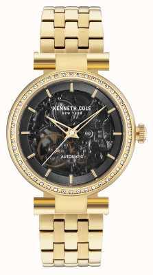 Kenneth Cole Bracelet en cuir noir noir KC15107003