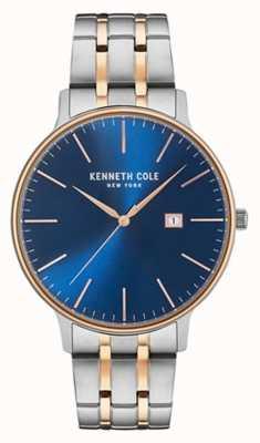 Kenneth Cole Bracelet en acier à deux tons bleu et bleu KC15095002