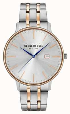 Kenneth Cole Bracelet en acier à deux tons en argent +