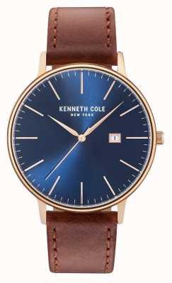 Kenneth Cole Bracelet en cuir marron pour homme KC15059007