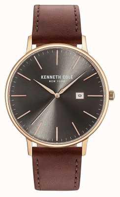 Kenneth Cole Chaussure de cuir marron pour homme KC15059008