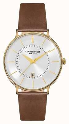 Kenneth Cole Bracelet en cuir marron pour homme KC15097004