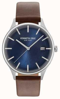 Kenneth Cole Bracelet en cuir marron pour homme KC15112001