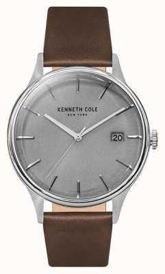 Kenneth Cole Bracelet en cuir marron pour homme KC15112003